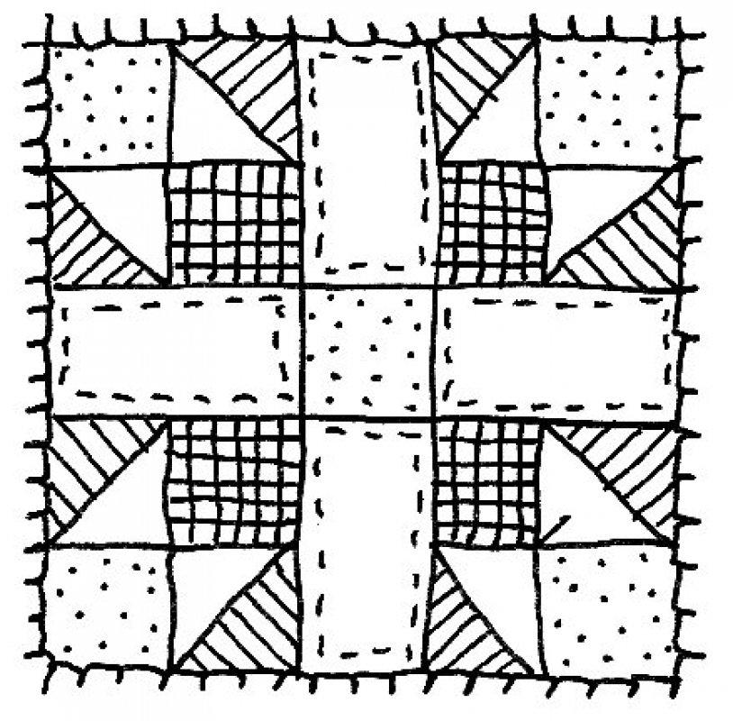 Quilt Black And White Clip-Quilt Black And White Clip-9