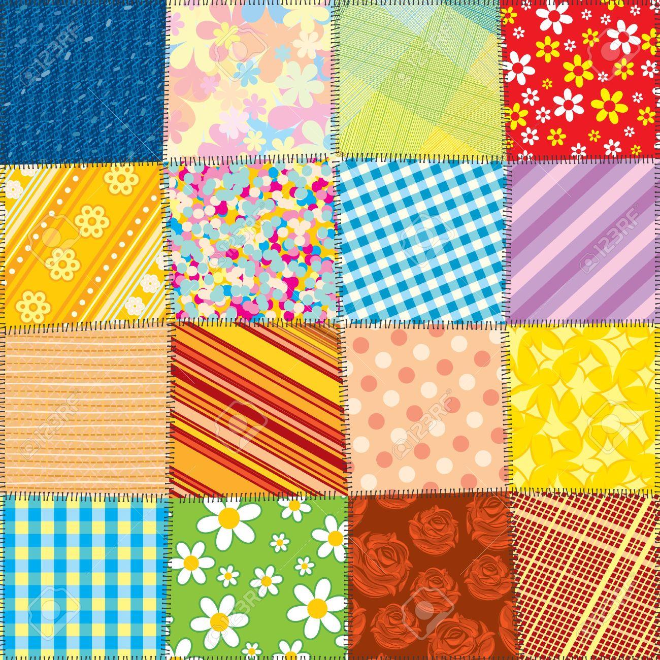 Quilt Patchwork Texture .