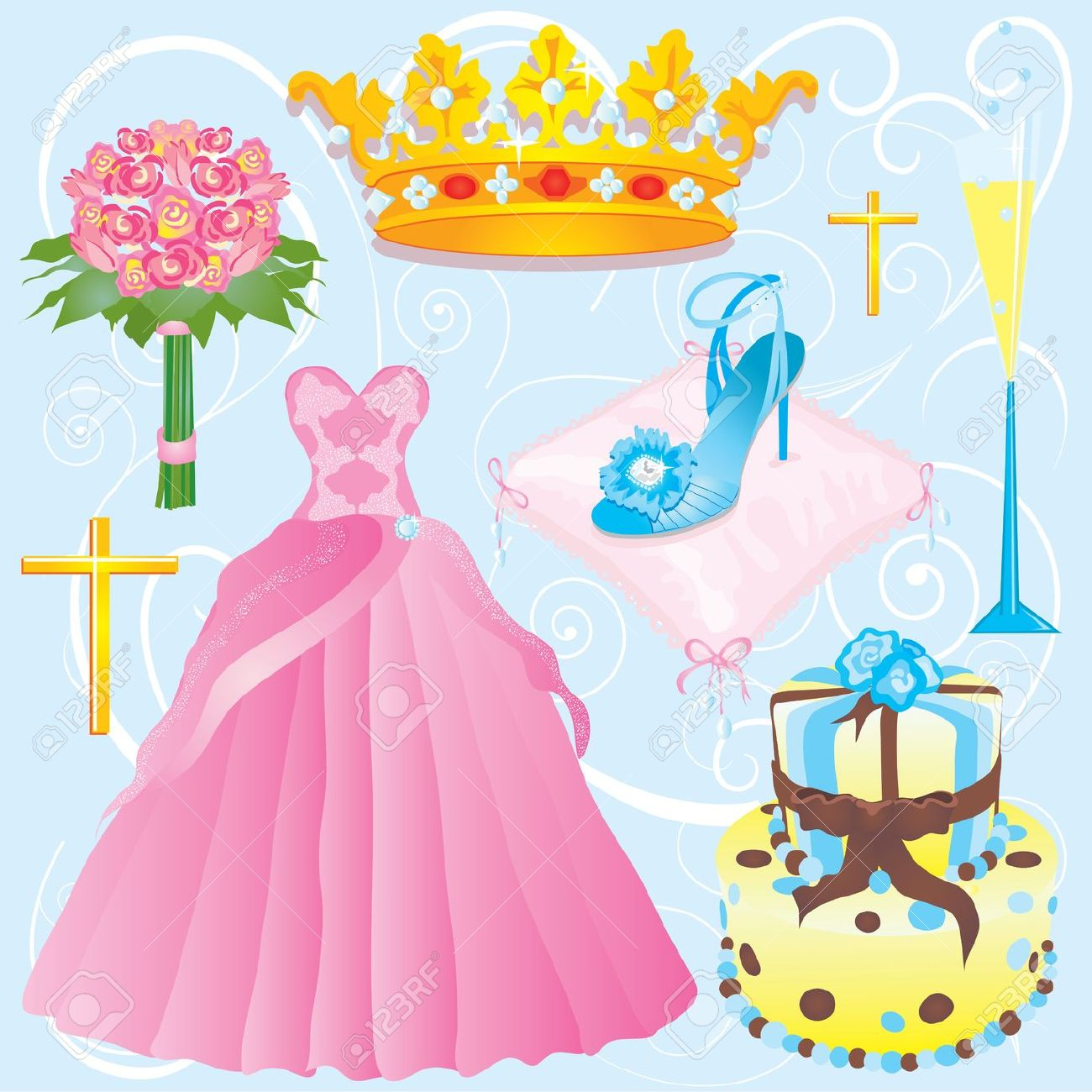 Quinceanera clip art or invitation for your party Stock Vector - 5955074