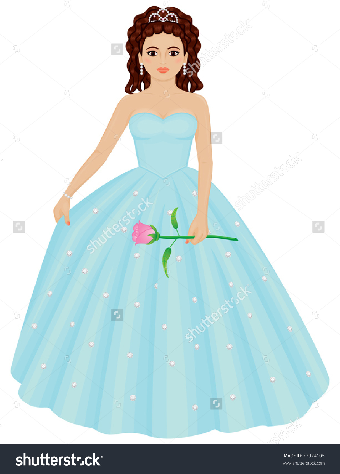 Quinceanera Dresses Clipart