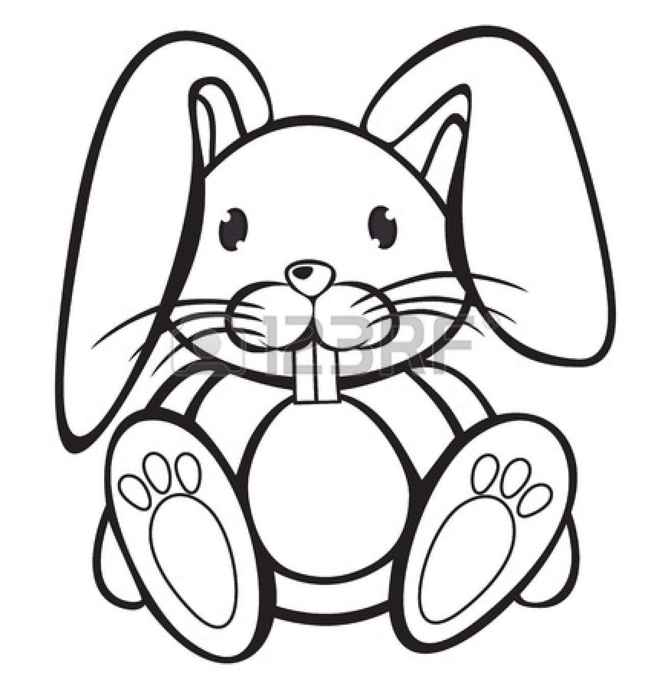 Rabbit Clipart Black And White-rabbit clipart black and white-11
