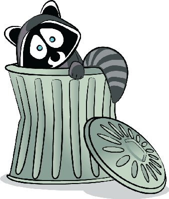 Raccoon in The Trash! | Clipart-Raccoon in The Trash! | Clipart-15