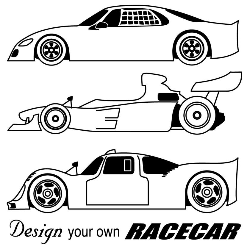 Race Car Clipart Black And ..-Race Car Clipart Black And ..-13