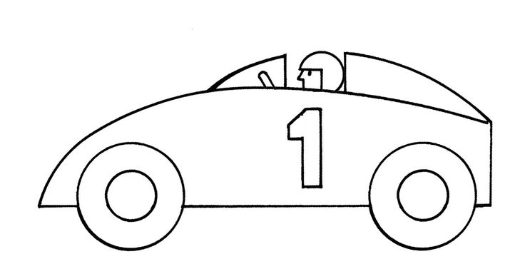race car clipart black and .