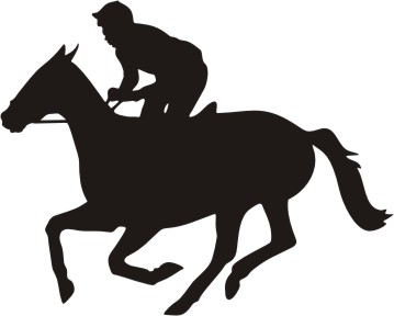 ... Race Horse Silhouette Clipart ...
