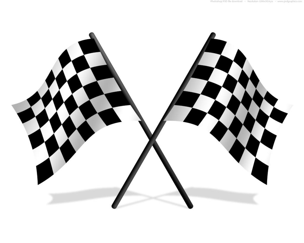 Race Track Flag Clipart #1