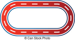 Race Track Vector Clipart Eps Images 5022 Race Track Clip Art Vector