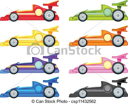 racing car - illustration .