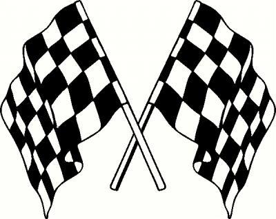 Racing Flags 1 Vinyl Decal Car Decal Car-Racing Flags 1 Vinyl Decal Car Decal Cars And Motorcycles Decals-17