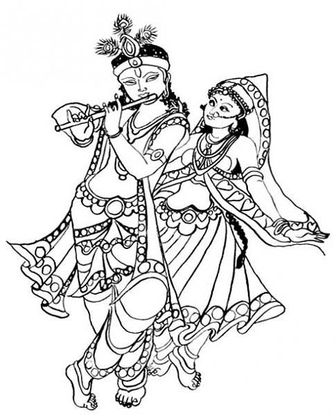 Radha Krishna Clipart-Clipartlook.com-485