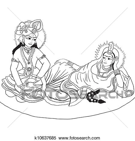 Clipart - Radha-Krishna. Fotosearch - Search Clip Art, Illustration Murals,  Drawings