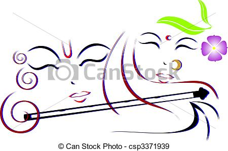 Lord Krishna and Radha - csp3371939