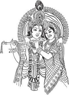 radha krishna clipart 2