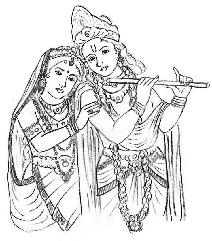 radha krishna clipart 8