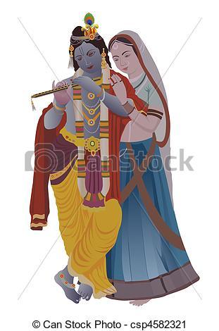 radha krishna - csp4582321