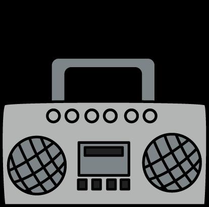 ... Radio Clip Art U0026middot; Boombox -... Radio Clip Art u0026middot; Boombox with Music Notes-12