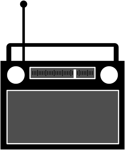 Radio receiver vector clip art