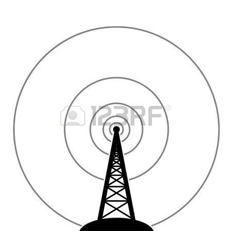 Radio Tower: Illustration Of Radio Tower-radio tower: illustration of radio tower broadcast Illustration-10