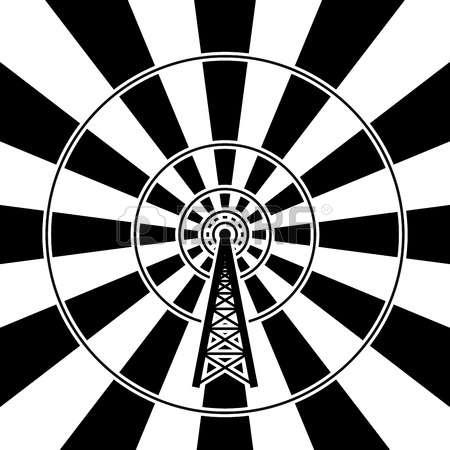 Radio Tower: Illustration Of Radio Tower-radio tower: illustration of radio tower broadcast-11