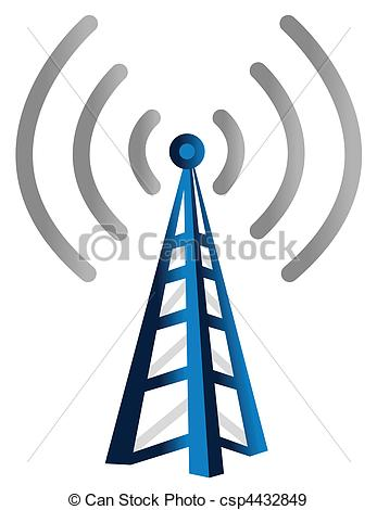 Radio Tower Symbols Drawingsby Freesoulp-radio tower symbols Drawingsby freesoulproduction11/2,163; Wireless Tower - Blue wireless technology tower background.-15