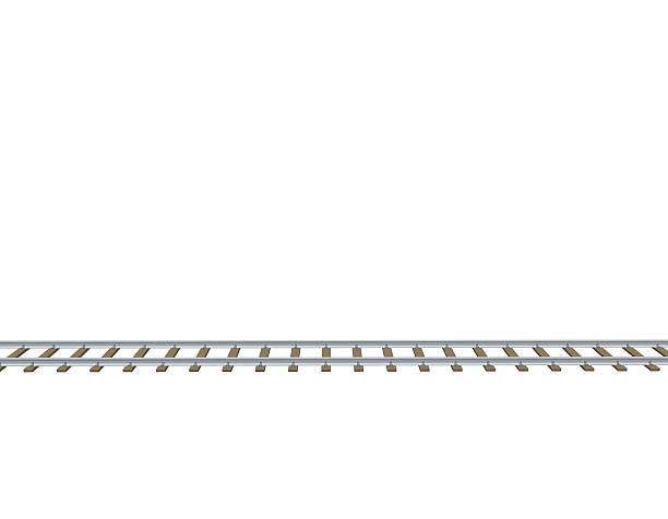 Railway Track. 3d Vector Illustration.Si-Railway track. 3d Vector illustration.Side view. vector art illustration-10