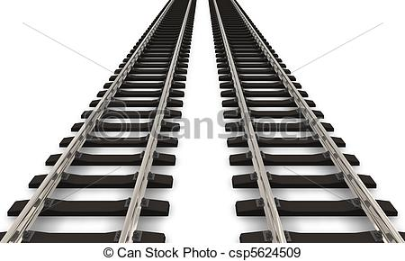 Two railroad tracks - csp5624509