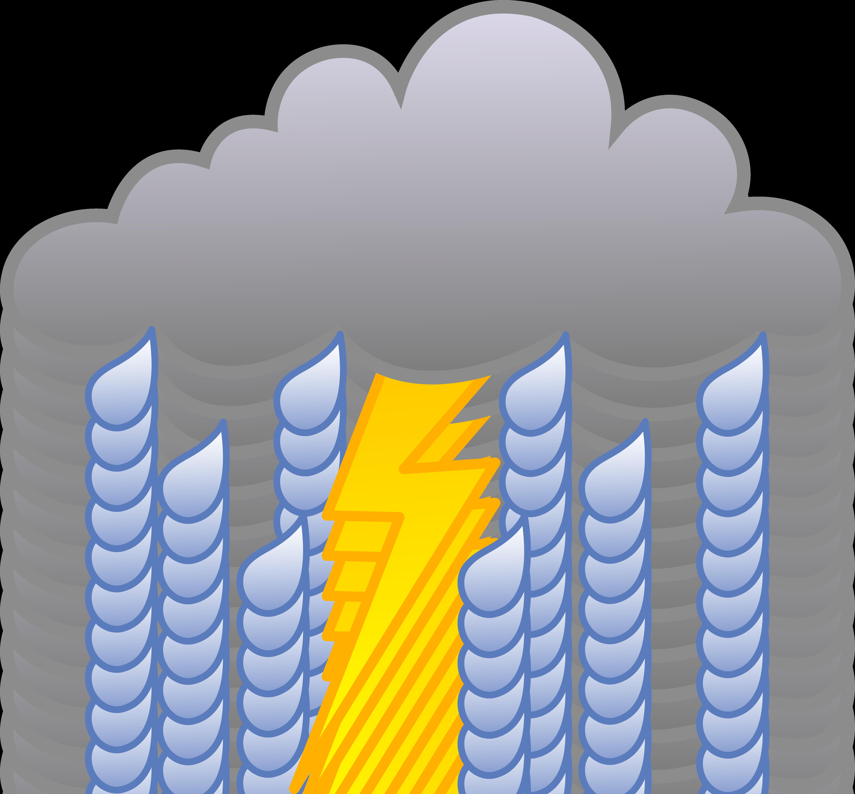 Rain Cloud With Lightning Bolt .-Rain Cloud With Lightning Bolt .-16