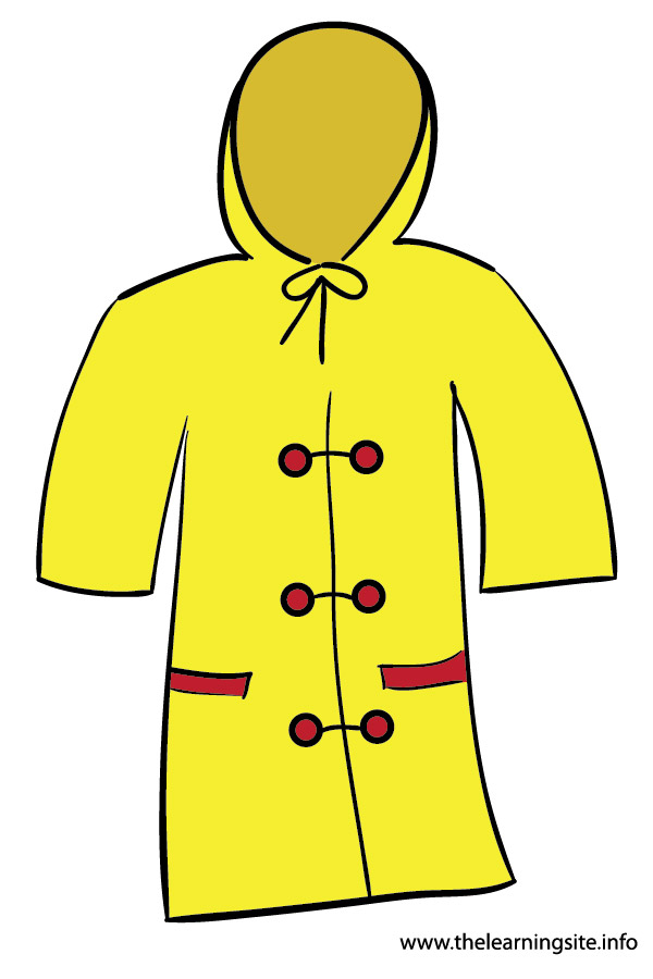 Rain Coat Clip Art Flashcard Clothes Raincoat 01jpg Picture
