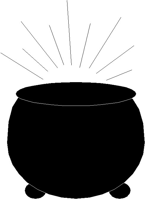 Rainbow With Pot Of Gold Clipart Black A-rainbow with pot of gold clipart black and%-15