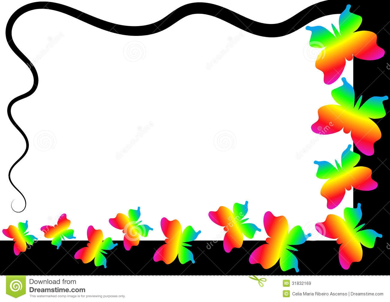 Rainbow Butterfly Clipart .-Rainbow Butterfly Clipart .-19
