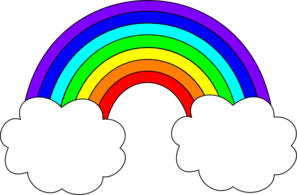 Rainbow clipart black and white free clipart images