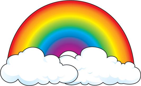 Rainbow dashboard icon clip art