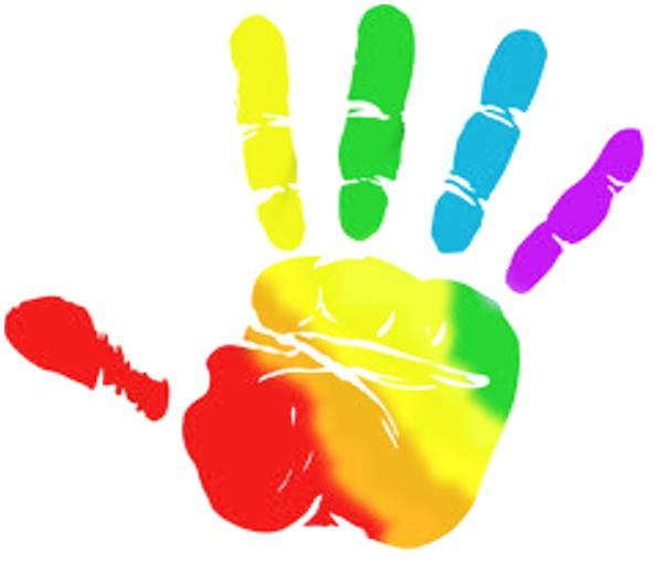 Rainbow hands clipart