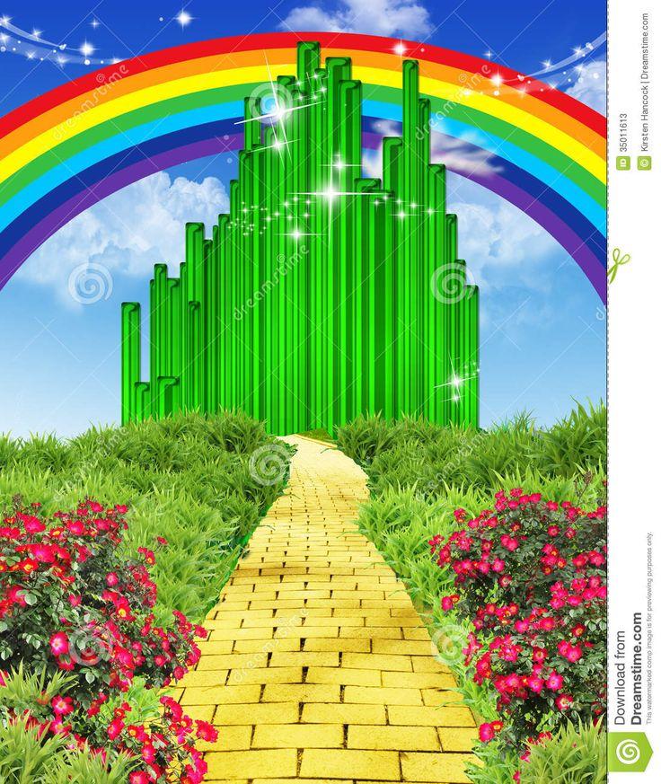 Rainbow Over The Yellow Brick Road Stock Photos - Image: 35011613