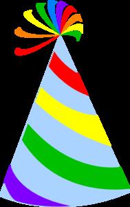 ... Rainbow Party Hat Sky Blue Clip Art -... Rainbow Party Hat Sky Blue Clip Art - vector clip art .-15