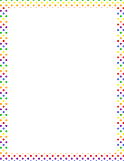 Rainbow Polka Dot Border