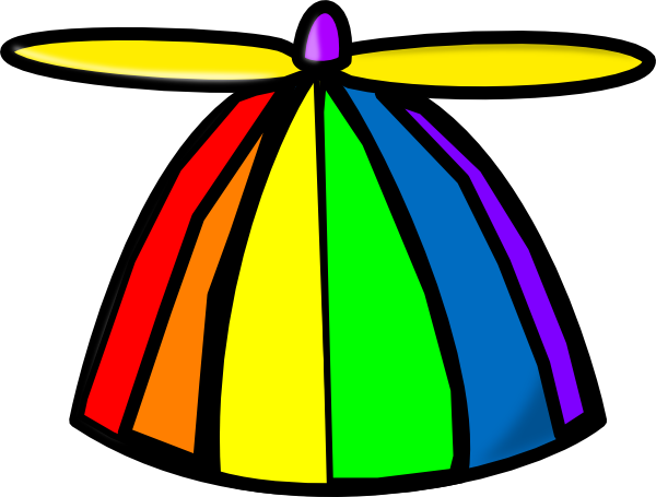 Rainbow Propellor Hat Clip Ar - Crazy Hat Clip Art