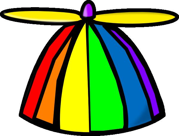 Rainbow Propellor Hat Clip Ar - Crazy Hat Clip Art
