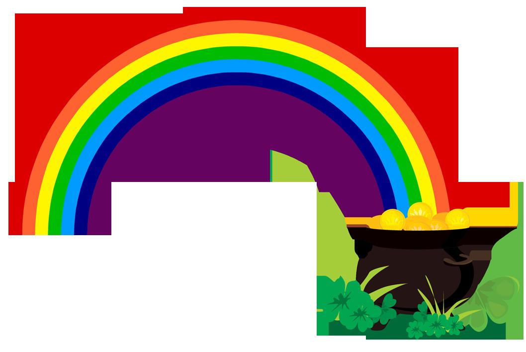Rainbow With Pot Of Gold .-Rainbow With Pot Of Gold .-16