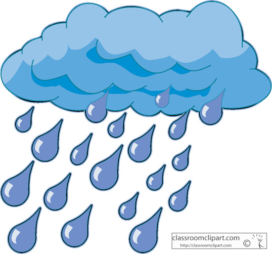 Raindrops Background Clipart  - Clipart Raindrops