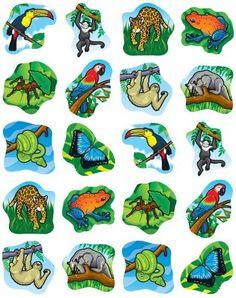 Rainforest Animals Shape .-Rainforest Animals Shape .-13
