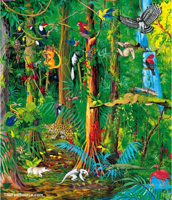 Rainforest art related .