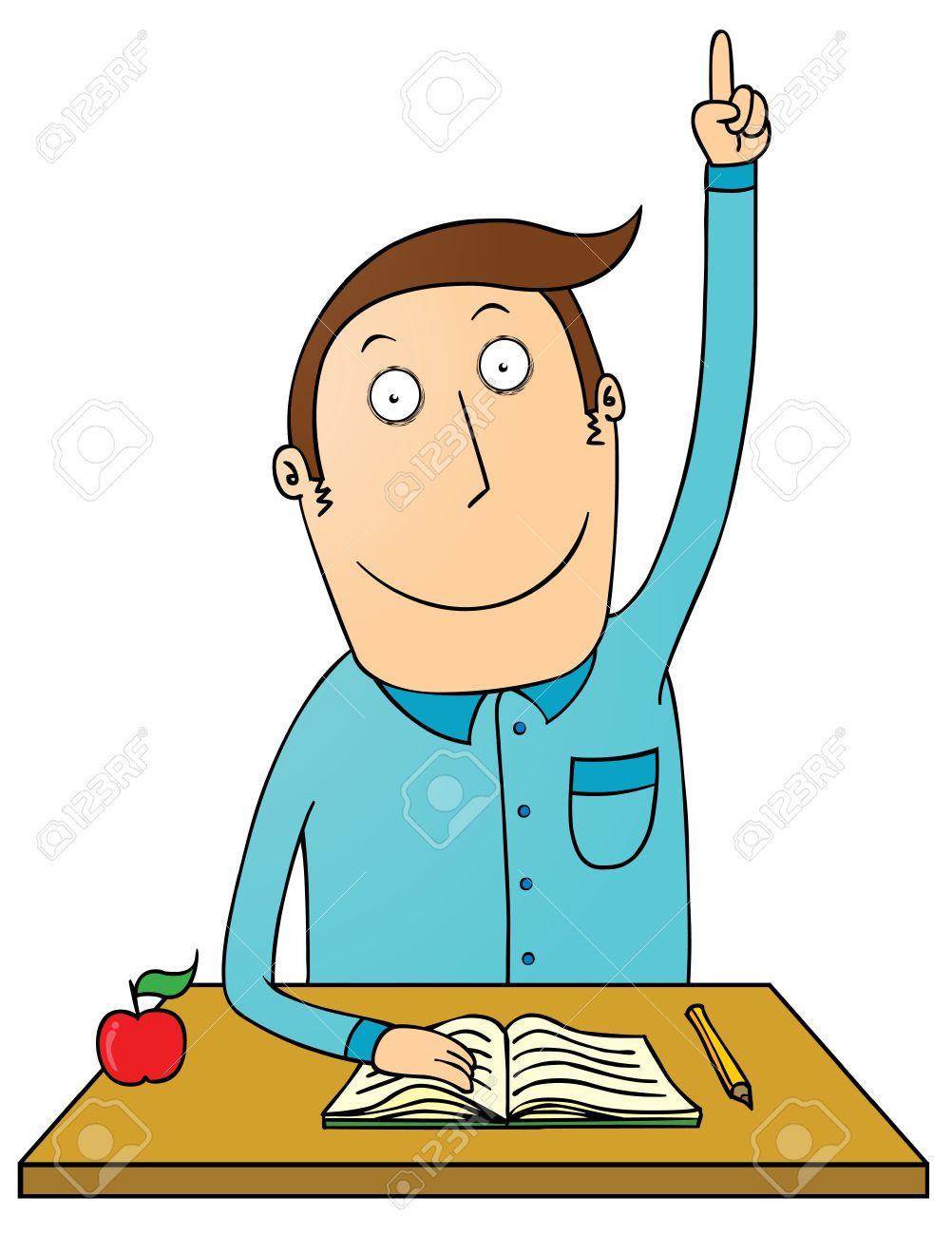 raising hand student - Student Raising Hand Clipart