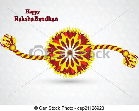 Beautiful Stylish Rakhi Desig - Rakhi Clipart
