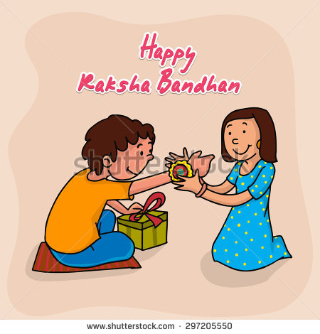 Cute Little Sister Tying Rakhi To Her Br-Cute little sister tying rakhi to her brotheru0027s wrist on occasion of Indian  festival, Raksha-6