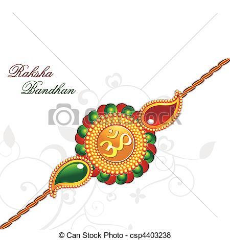raksha bandhan theme rakhi -  - Rakhi Clipart