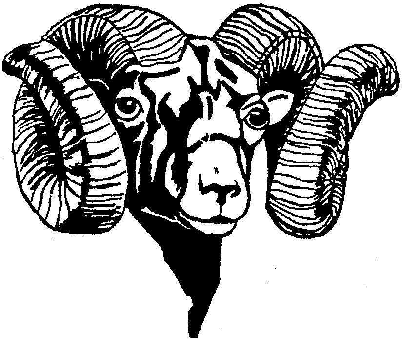 Ram Clip Art - Ram Head Clip Art