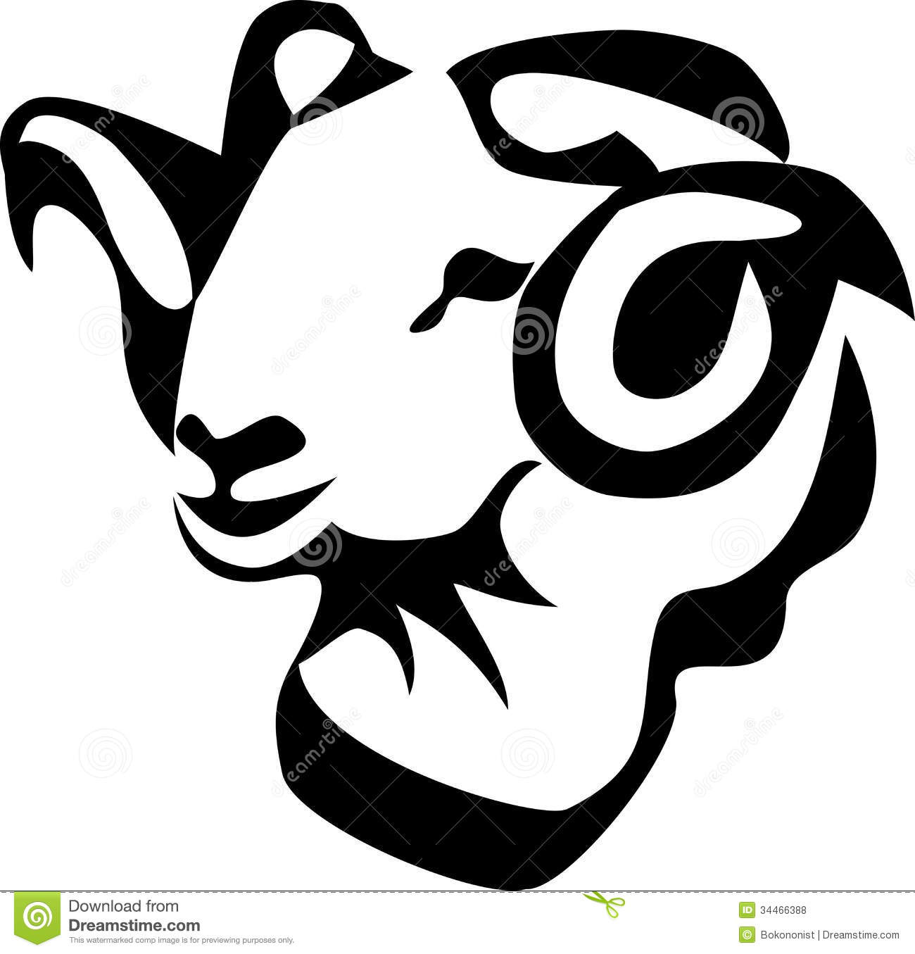 Ram Head Clipart Ram Royalty  - Ram Head Clip Art