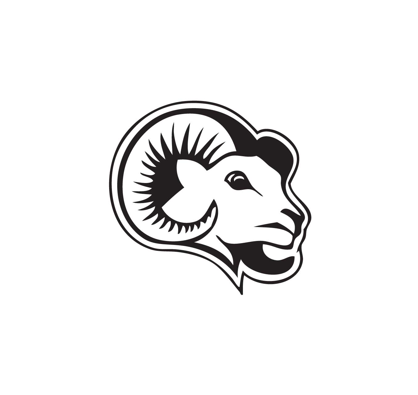 017 Ram Head Sticker 017 Ram