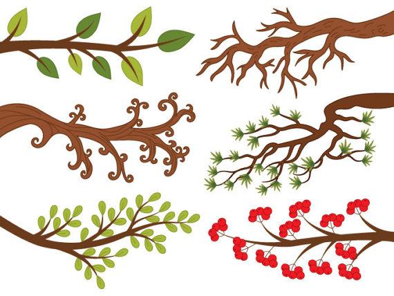Clipart - Vector Digital rama, baya, hoj-Clipart - Vector Digital rama, baya, hojas de ramas de árboles, ramas de  árbol Clip Art-13